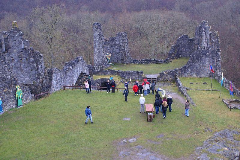 Les ruines du château fort de Montaigle