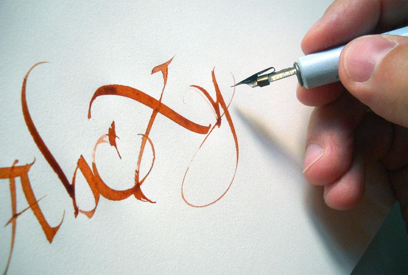 Atelier de calligraphie à Redu